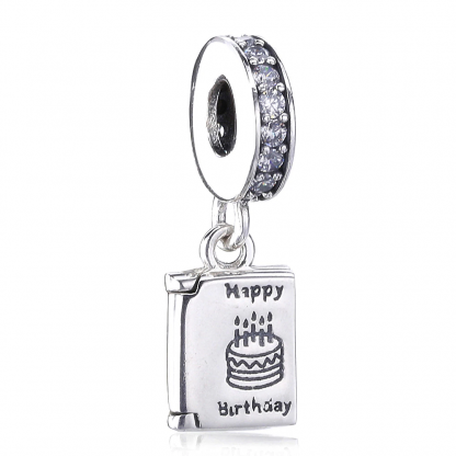 Pandora Happy Birthday Card Charm | Material 925 Sterling Silver