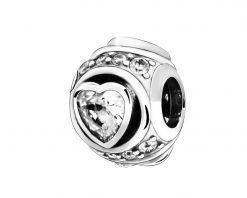 Elevated Heart Charm Pandora