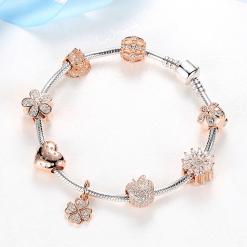 Pandora Bow Charm Bracelet